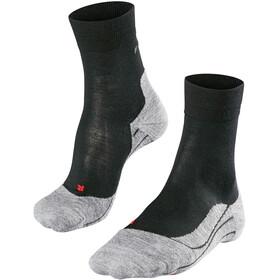 Falke RU4 Wool Calze Donna, nero/grigio